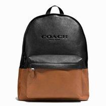 COACH 蔻驰新款男士皮质双肩包电脑包旅行包休闲背包F72159