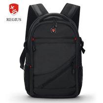 瑞吉仕 背包14/15.6/17英寸笔记本电脑包双肩包学生书包旅行包男(黑色 SA006款升级版)