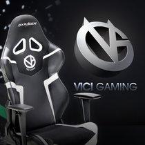 迪瑞克斯dxracer 电竞椅 VG战队定制限量款游戏椅 电脑椅家用办公椅 人体工学转椅皮椅子 老板椅升降?#21830;?#32844;员椅(灰白色 知名战队定制款)