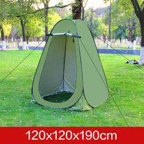 嘀威尼 Diweini洗澡帐篷保暖沐浴家用户外更衣帐篷便携野外移动厕所卫生间帐篷(1.2米绿色2窗)