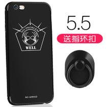 苹果 iPhone6plus手机壳 苹果6splus保护套 手机壳套 保护壳套 软套 软硅胶防摔卡通创意彩绘潮壳(图4)