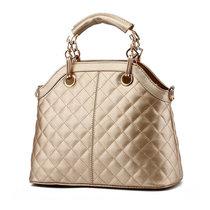 DS.JIEZOU女包手提包单肩包斜跨包时尚商务女士包小包聚会休闲包9446(金色)