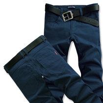 BEBEERU 春季 男装休闲长裤 修身男士休闲长裤 男 加大码加肥 6619(蓝色)