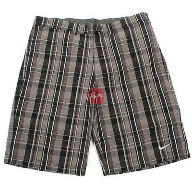 耐克/nike 男子梭织运动短裤 441220-015(灰白格子 30