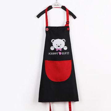 防水儿童围裙 幼儿园美术绘画小孩diy画画衣印字定制logo(透气款黑色