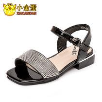 小金蛋儿童鞋女童凉鞋2019夏季新款韩版女孩公主鞋中大童沙滩鞋子(29 黑)