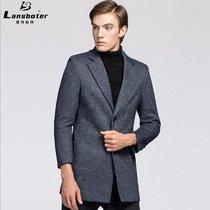 秋冬新款毛呢大衣男针织羊毛风衣男加厚羊毛呢大衣中年外套A1735(咖啡色 XXL/185)