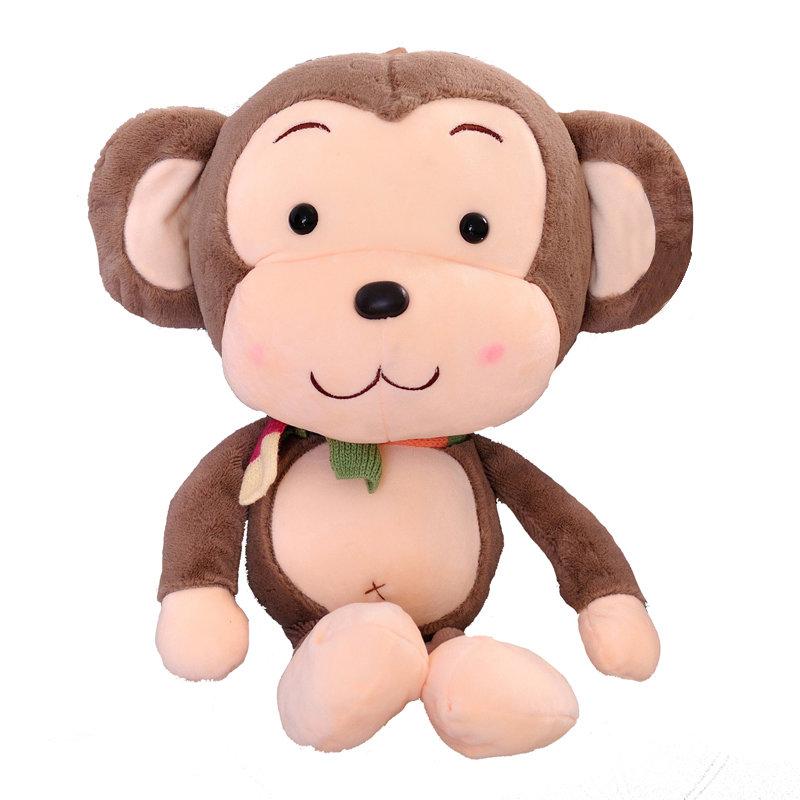 国美为您找到 猴子毛绒玩具大嘴猴抱枕布娃娃可爱围巾猴子