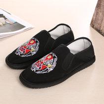 缝制布鞋 春秋季 女士平底休闲鞋 防滑 色鬼 情侣 懒人单鞋刺绣社会鞋潮(京谱 45及以上)