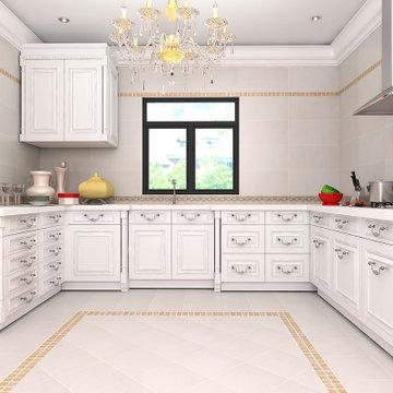 楼兰瓷砖 仿石纹地板砖 厨房卫生间瓷砖墙砖厨房地砖 防滑釉面砖 静品