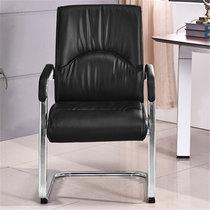 GX 辦公椅環保西皮會議椅弓形電腦椅人體工學職員椅(黑 GX-08弓形椅)