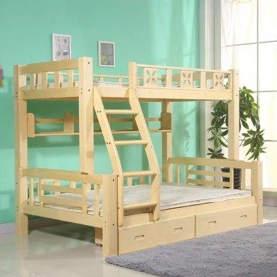 木巴 TB100301 实木子母床 直梯款 1.35米