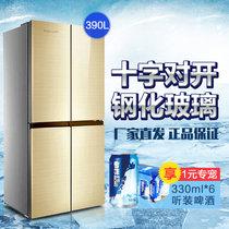 万宝390升十字对开门冰箱