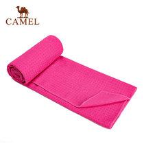 Camel/駱駝運動瑜伽墊巾 防滑硅膠加長加厚吸汗健身墊毛巾 A7S3G9104(玫紅)