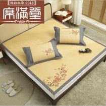 绣花藤席1.8m床中国风复古加厚空调折叠1.5米凉席草席子(默认 两套)