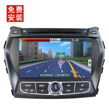 朗动名图瑞纳索纳塔八dvd导航 gps嵌入式车载导航仪倒车影像(ix45