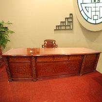 红木家具3.2米红木书桌?#30340;?#21150;公桌大班台非洲黄花梨木