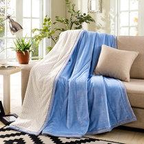 南极人 贝贝绒毯子毛毯 空调毯午睡毯 四季毯子 宝蓝 双层加厚(宝蓝)