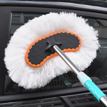 洗车刷子软毛除尘掸子伸缩擦车拖把刷车长柄清洁工具汽车用品专用(单只 单只装)