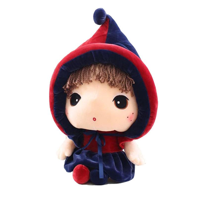 毛绒玩具可爱卡通乐儿公仔玩偶小巫婆布娃娃儿童礼物(深蓝色裙子 60