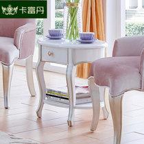 卡富丹家具 欧式小茶几简约边桌 客厅沙发边几移动方桌卧室储物桌子G908(白色 珍珠白休闲几)
