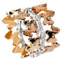 梦克拉Mkela 18K彩金玫瑰金钻石戒指 快乐木马(三戒合一)