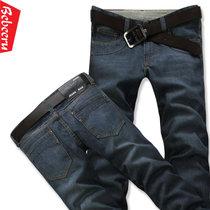 新款下装夏季薄款长裤男装潮直筒休闲男士牛仔裤 男裤大码GL02(深蓝)