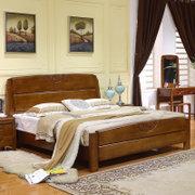 美天乐 简约现代中式实木床1.8*2米