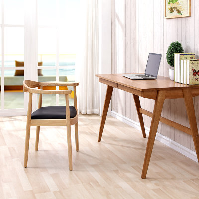 TIMI天米 实木书桌 全白橡木办公桌 日式抽屉书桌 白橡木学习桌(原木色 书桌)