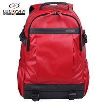 汉诺斯luckysky新品双肩包潮流时尚旅行包休闲笔记本15.6寸电脑包背包(红色)