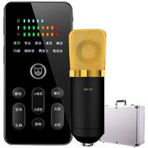 屁颠虫S200pro+MS-3蓝牙声卡套装手机直播设备全套全民K歌麦克风话筒变声器K歌神器抖音快手外置声卡 黑色