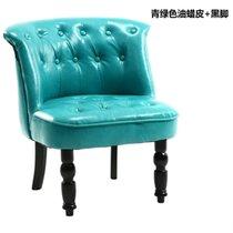 TIMI天米 美式沙发 休闲沙发 皮沙发 简约沙发组合 单人双人三人沙发 客厅沙发组合 美式油蜡皮沙发(青绿色 单人沙发)