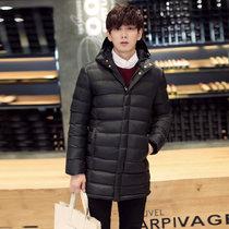 丹杰仕 包邮 男士棉衣 冬季新品潮外套韩版修身加厚保暖棉袄男潮(黑色 XXXL-185)