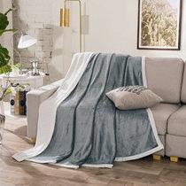南极人 贝贝绒毯子毛毯 空调毯午睡毯 四季毯子 银灰 双层加厚(银灰)