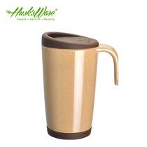 殼氏唯環保水杯創意馬克杯辦公室情侶咖啡杯帶蓋牛奶杯子(咖啡色)