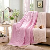 南极人 贝贝绒毯子毛毯 空调毯午睡毯 四季毯子 嫩粉 双层加厚(嫩粉)