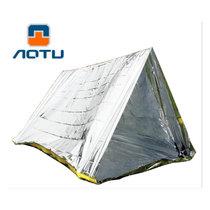 凹凸 户外双人简易帐篷PET急救保温救灾便携帐篷保暖救生毯AT9045(银色)