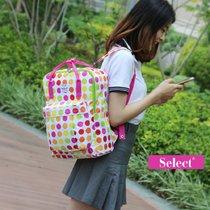 SELEC时尚女包手提包双肩背包韩范学院风通勤包S-247(圆点印花)