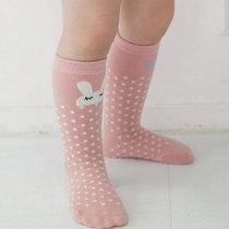 儿童袜子纯棉1-3岁女童宝宝长筒袜婴儿袜子新生儿中筒袜秋冬男童冬天保暖(粉色 M码)