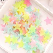 洁饶立体夜光贴纸荧光贴100颗 星星儿童宝宝房间卧室宿舍天花板装饰贴画