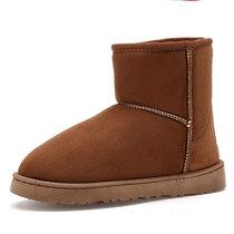 羊骑士冬季男士雪地靴2018加绒短筒低帮套脚情侣棉鞋防滑马丁靴女生高帮加毛户外保暖面包鞋(YG218黄色 45)
