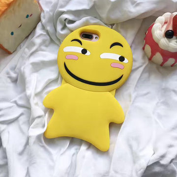 亿和源 苹果7手机壳iphone6/7plus保护壳饼干奸笑表情i6/6s硅胶软壳