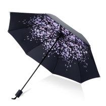 雨寶小黑傘太陽傘三折防曬傘晴雨兩用傘YB-012(默認 默認)