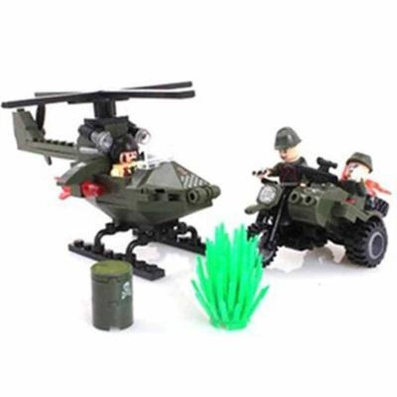 启蒙积木益智拼装玩具◆乐高式 军事系列 追击 806