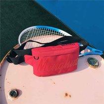 腰包女胸包男2018新款潮流多功能旅游帆布单肩斜挎包韩版个性时尚(红色)