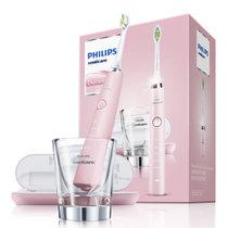 飞利浦PHILIPS电动牙刷HX9362/67钻石亮白型充电电动牙刷成人 奢宠粉钻 牙刷盒是USB充电器