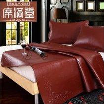 牛皮凉席1.8m床头层牛皮软席加厚真皮席子1.5米季(默认 三套)