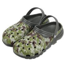Crocs 卡骆驰 洞洞鞋凉鞋专柜户外男女极速迷彩迪特沙滩鞋|202648(石墨色 41)