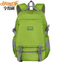 亨?#32654;?#21452;肩包旅行旅游背包休闲时尚学院风学生书包(绿色)