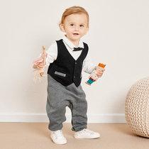 巴拉巴拉婴儿衣服连体衣冬装新生儿宝宝爬爬服抱衣0-1岁周岁礼服(73cm 本白1120)